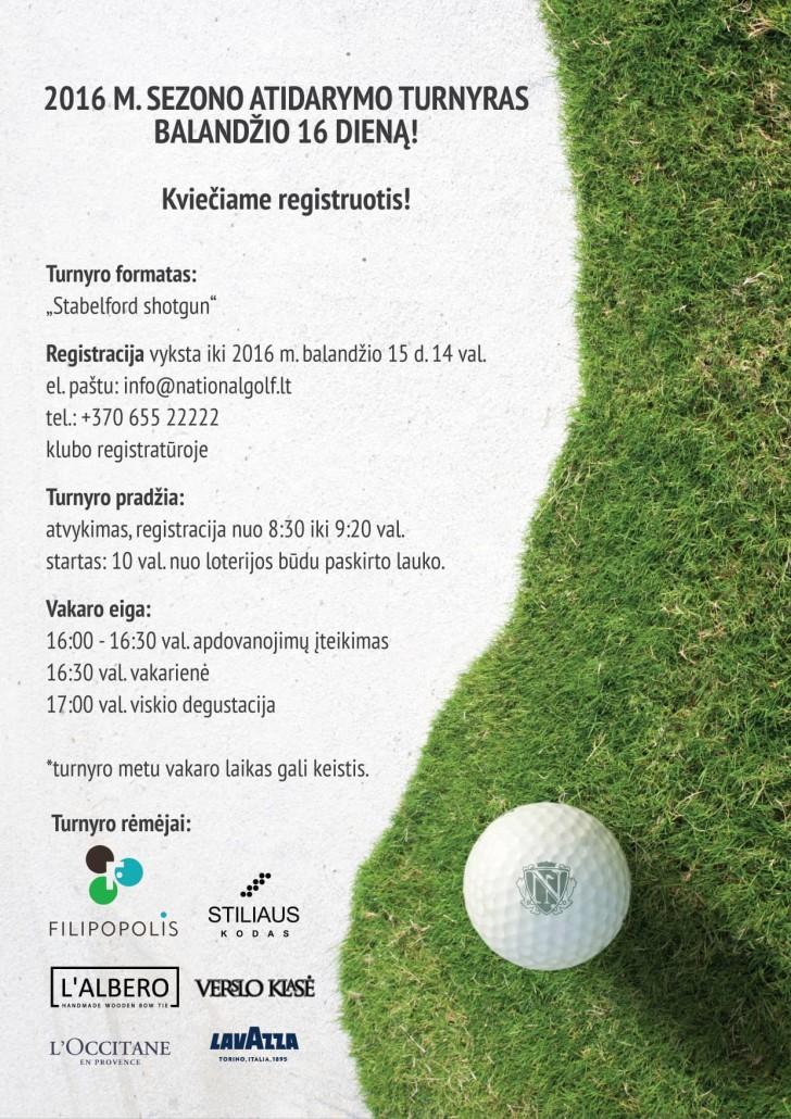 National Golf Resort kvietimas